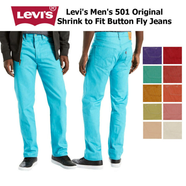 กางเกงยีนส์ Levi's 501 Denim Original Shrink to Fit Button Fly