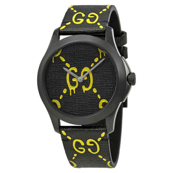 Gucci Ghost G-Timeless Black and Yellow Dial Men's 38mm Watch YA1264019