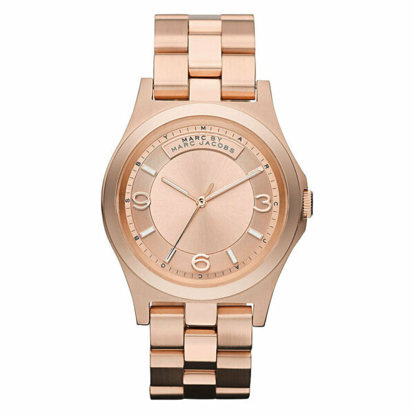 Marc by Marc Jacobs Rose Dial Stainless Steel Quartz Ladies Watch MBM3184