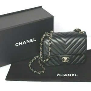 1628009459 s l1600 300x300 - CHANEL แท้ CHANEL Black Chevron Quilted Leather Square Mini Flap Bag